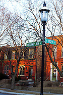 Chicago's historic Pullman neighborhood on the south side. This entire neighborhood was originally constructed to serve as housing for the workers in the adjacent Pullman railway car factory.