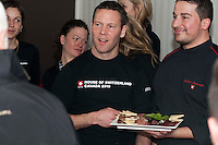 The chefs present traditional Swiss food at the Grand Opening of the House of Switzerland in Whistler for the 2010 Winter Olympic Games.