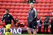 AFC Wimbledon assistant coach Neil Cox  walking onto pitch during the EFL Sky Bet League 1 match between Charlton Athletic and AFC Wimbledon at The Valley, London, England on 28 October 2017. Photo by Matthew Redman.