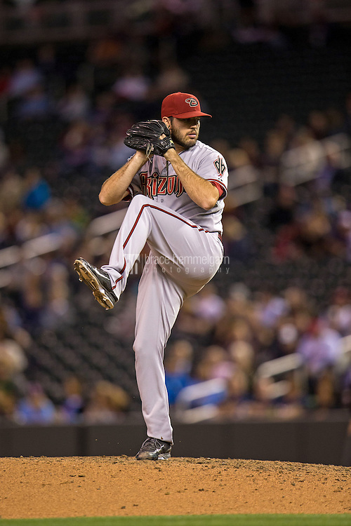 MINNEAPOLIS, MN- SEPTEMBER 23: Matt Stites #37 of the Arizona Diamondbacks pitches against the Minnesota Twins on September 23, 2014 at Target Field in Minneapolis, Minnesota. The Twins defeated the Diamondbacks 6-3. (Photo by Brace Hemmelgarn) *** Local Caption *** Matt Stites