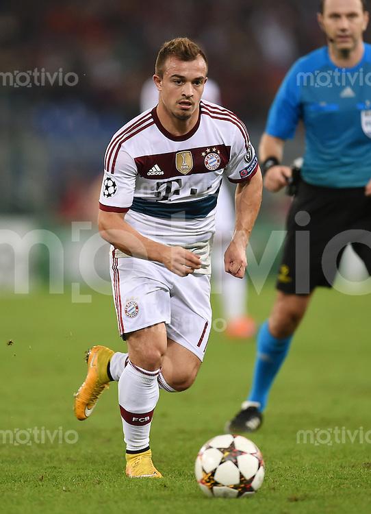 FUSSBALL   CHAMPIONS LEAGUE   SAISON 2014/2015   Vorrunde AS Rom - FC Bayern Muenchen        21.10.2014 Xherdan Shaqiri (FC Bayern Muenchen) am Ball