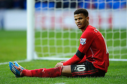 Cardiff Forward Fraizer Campbell (ENG) looks frustrated after a near miss late on - Photo mandatory by-line: Rogan Thomson/JMP - 07966 386802 - 15/02/2014 - SPORT - FOOTBALL - Cardiff City Stadium - Cardiff City v Wigan Athletic - The FA Cup Fifth Round Proper.