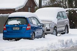 Snow bound cars at Waddington, inland Canterbury, New Zealand, Thursday, July 13, 2017. Credit:  SNPA / David Alexander -NO ARCHIVING-