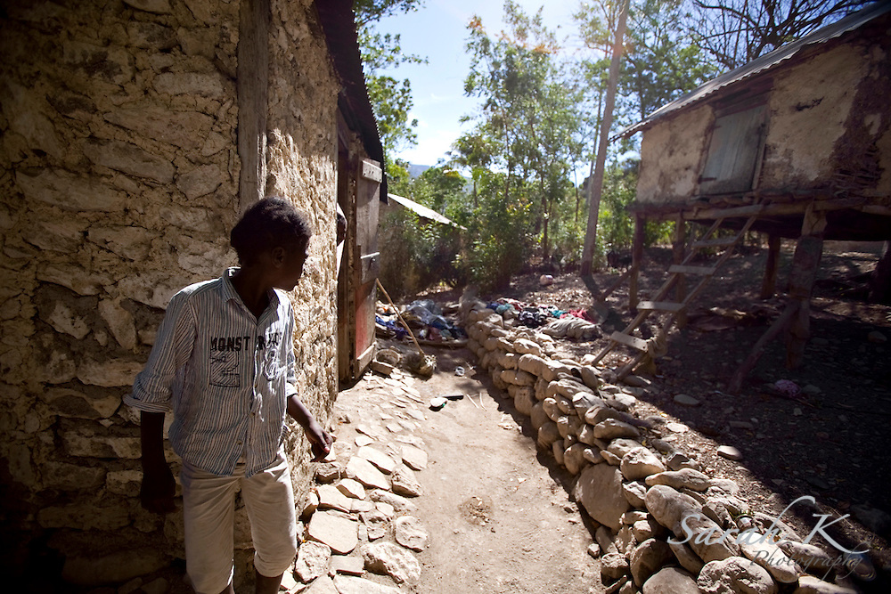Many villagers from Bayonnais, a village thirty miles away from the city of Gonaives, where the floods hit the hardest last September, lost their homes to the flood and have not yet recuperated. Huts built on stilts don't have a much better chance of surviving a storm than homes of pieced-together stones and mud.