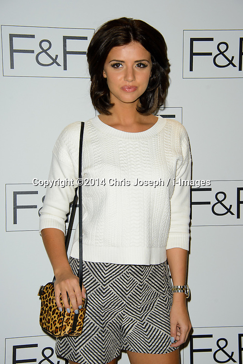 Lucy Mecklenburgh attends F+F AW 14 Fashion Show. Somerset House, London, United Kingdom. Thursday, 3rd April 2014. Picture by Chris Joseph / i-Images