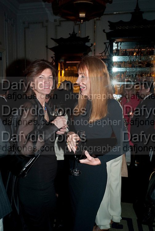 SOPHIE DE CHAVENAUX; COLINE COVINGTON, Henry Porter hosts a launch for Songs of Blood and Sword by Fatima Bhutto. The Artesian at the Langham London. Portland Place. 15 April 2010.  *** Local Caption *** -DO NOT ARCHIVE-© Copyright Photograph by Dafydd Jones. 248 Clapham Rd. London SW9 0PZ. Tel 0207 820 0771. www.dafjones.com.<br /> SOPHIE DE CHAVENAUX; COLINE COVINGTON, Henry Porter hosts a launch for Songs of Blood and Sword by Fatima Bhutto. The Artesian at the Langham London. Portland Place. 15 April 2010.