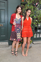 Left to right, EVA KARAYIANNIS and her daughter KIKI KARAYIANNIS at the launch of the Natalia Dress, inspired by Natalia Vodianova to benefit her Naked Heart Foundation held at Caramel Baby&Child, 77 Ledbury Road, London W11 on 16th May 2012.