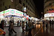 Deira. Shopping streets at night.