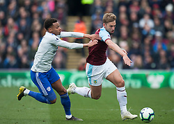 Josh Murphy of Cardiff City (L) and Charlie Taylor of Burnley in action - Mandatory by-line: Jack Phillips/JMP - 13/04/2019 - FOOTBALL - Turf Moor - Burnley, England - Burnley v Cardiff City - English Premier League