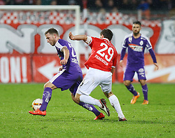 30.01.2016, Stadion An der Alten Foersterei, Berlin, GER, 1. FC Union Berlin vs SV Austria Salzburg, Testspiel, im Bild Zweikampf zwischen Sebastian Zirnitzer (#23, SV Austria Salzburg) und Michael Parensen (#29, 1. FC Union Berlin) // during a preperation Football Match between 1. FC Union Berlin vs SV Austria Salzburg at the Stadion An der Alten Foersterei in Berlin, Germany on 2016/01/30. EXPA Pictures © 2016, PhotoCredit: EXPA/ Eibner-Pressefoto/ Hundt<br /> <br /> *****ATTENTION - OUT of GER*****