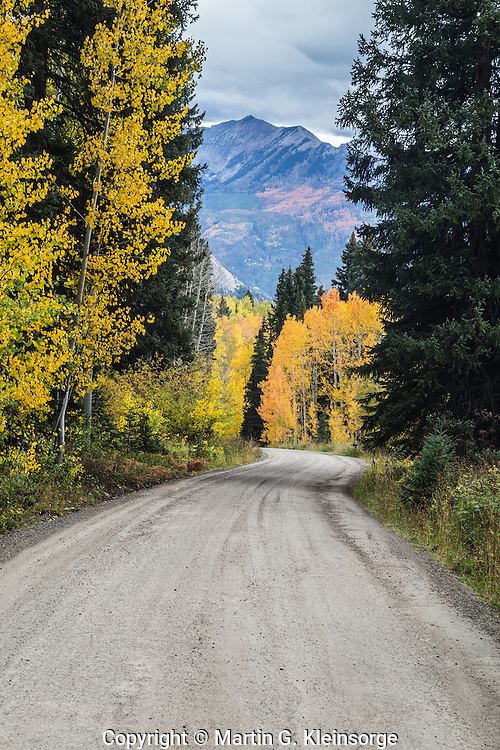 Lost Lake Road in the West Elk Mountains, Colorado.