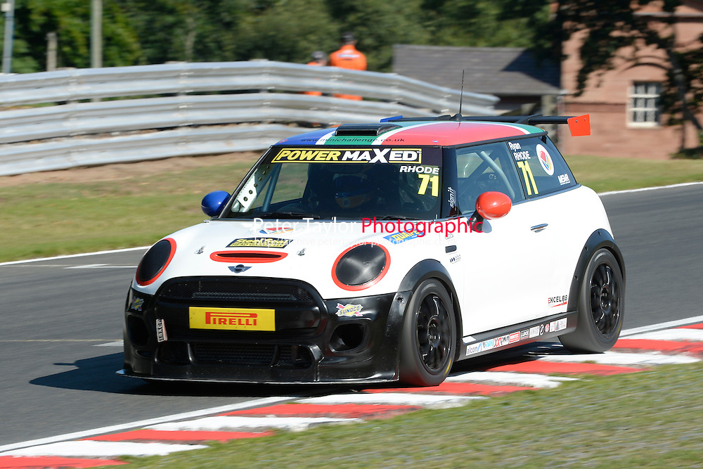 #71 Ryan Rhode Mini F56 during Power Maxed Mini Challenge - F56/JCW - Qualifying  as part of the Mini Festival  at Oulton Park, Little Budworth, Cheshire, United Kingdom. August 08 2015. World Copyright Peter Taylor. Copy of publication required for printed pictures.  Every used picture is fee-liable. http://archive.petertaylor-photographic.co.uk