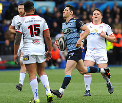 Tomos Williams of Cardiff Blues runs with the ball - Mandatory by-line: Nizaam Jones/JMP- 24/03/2018 - RUGBY - BT Sport Cardiff Arms Park- Cardiff, Wales - Cardiff Blues v Ulster Rugby - Guinness Pro 14