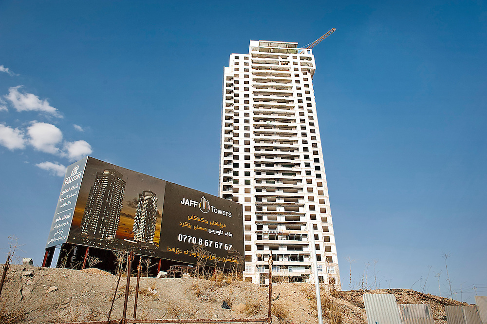 A new skyscraper in Sulaymaniyah, one of the most important economic centers for Iraqi Kurdistan.