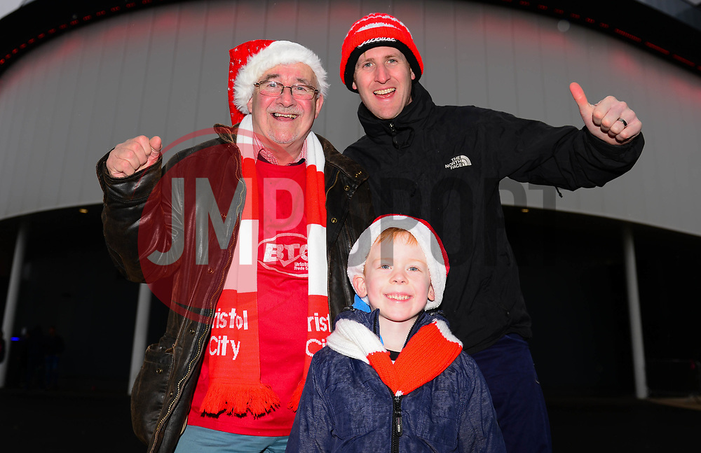 Bristol City fans with Christmas hats - Mandatory by-line: Dougie Allward/JMP - 26/12/2017 - FOOTBALL - Ashton Gate Stadium - Bristol, England - Bristol City v Reading - Sky Bet Championship