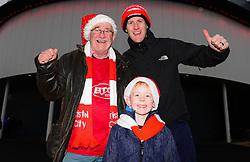 Bristol City fans with Christmas hats - Mandatory by-line: Dougie Allward/JMP - 26/12/2017 - FOOTBALL - Ashton Gate Stadium - Bristol, England - Bristol City v Reading - Sky Bet Championship