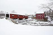 63904-03317 Bridgeton Covered Bridge in winter at Bridgeton, IN