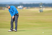 Andrea Pavan putts on the 16th during the final round of the Alfred Dunhill Links Championships 2018 at West Sands, St Andrews, Scotland on 7 October 2018
