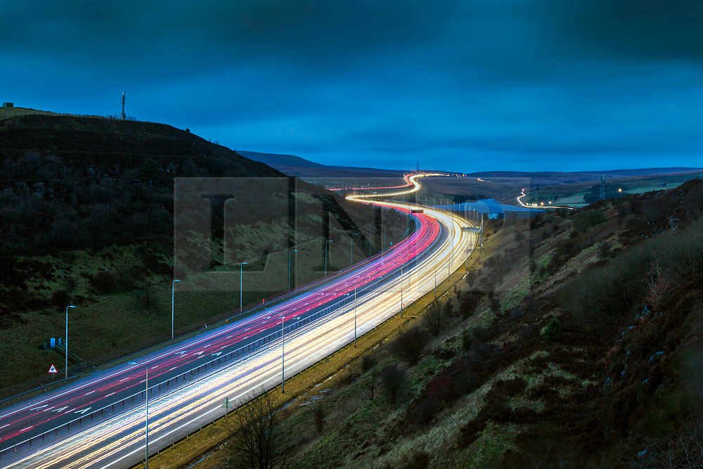 © Licensed to London News Pictures. 19/12/2019. Leeds UK. Traffic on the M62 motorway this morning between Leeds & Manchester. Today is predicted to be one of the busiest day's on Britains roads with shoppers & leisure traffic adding to the regular volume of commuters. Drivers will make an estimated 32 million leisure journeys between now & Christmas eve since records began according to the RAC & traffic analysts Inrix. Photo credit: Andrew McCaren/LNP