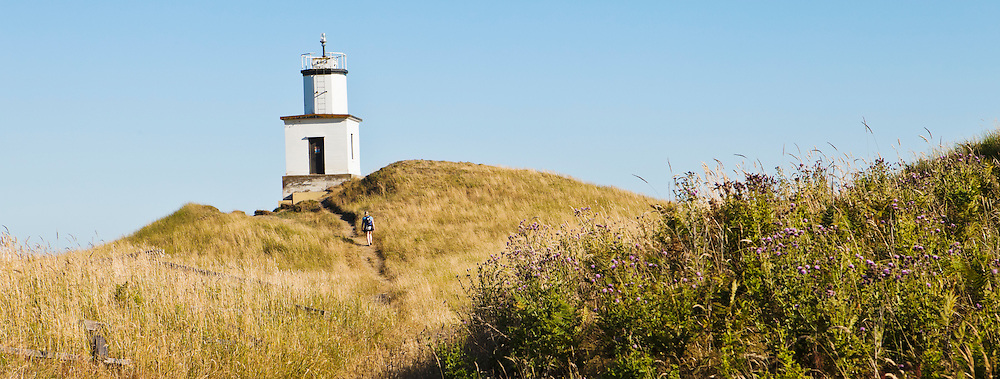 The light house at Cattle Point on San Juan Island, San Juan Island National Historical Park, Washington, USA.