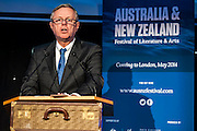 The Australian high Commissioner at The launch of the Australia New Zealand Festival of Literature and Arts at Australia House, Aldwych, London, UK 25 Nov 2013.