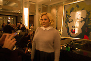HAYLEY HASSELHOFF, Cocktails with Marilyn, viewing of photographs of Marilyn Monroe by Bert Stern, Eve Arnold, Douglas Kirkland, and Frank Worth presented by Zebra One Gallery. The Langham, London.