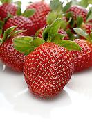 Strawbwrry on white background - close-up