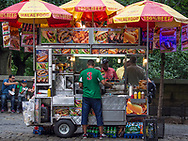 Food vendor along Fifth Avenue  at 76th street and Central Park