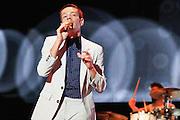 Nick Ruess of Fun. performs at Bunbury Music Festival at Yeatman's Cove in Cincinnati, Ohio on July 12, 2013.