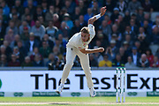 Stuart Broad of England bowling during the International Test Match 2019, fourth test, day two match between England and Australia at Old Trafford, Manchester, England on 5 September 2019.