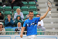 Picture by Ste Jones/Focus Images Ltd.  07706 592282.21/06/12.Richard Krajicek (NED) acknowledges the crowd at the +medicash Liverpool International 2012 tennis at Calderstones Park, Liverpool.