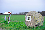 Nederland, Groesbeek, 14-2-2014In het landingsgebied van de Amerikaanse sioldaten tijdens operatie Market Garden staat een luisterkei. Hier kan men de gebeurtenissen rond deze plek terughoren. Vanuit dit gebied, klein America, trokken de militairen van de 82nd airborne division naar de Waalbrug van Nijmegen.Foto: Flip Franssen/Hollandse Hoogte