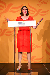 © Licensed to London News Pictures. 05/11/2019. London, UK. Leader of the Liberal Democrats JO SWINSON speaks during thelaunch of Liberal Democrat general election campaign in Westminster.A general election will be held on 12 December 2019.Photo credit: Dinendra Haria/LNP