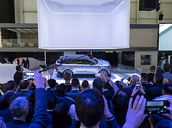 World premiere of new Land Rover Velar luxury SUV on launch day at Geneva International Motor Show 2017