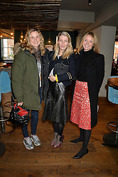 Left to right, NAOMI ROBERTSON, MELINDA STEVENS and KATE REARDON at a ladies lunch hosted by Thomasina Miers was held at her restaurant Wahaca, 19-23 Charlotte Street, London W1 on 10th January 2014.