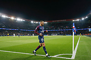 Layvin Kurzawa (psg) happy to score a goal joined the corner for a danse during the UEFA Champions League, Group B, football match between Paris Saint-Germain and RSC Anderlecht on October 31, 2017 at Parc des Princes stadium in Paris, France - Photo Stephane Allaman / ProSportsImages / DPPI