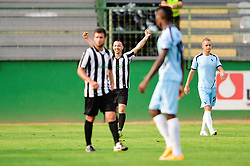 A Player of ND Mura celebrate during the football match between ND Mura and ND Gorica in 1st Round of Pokal Slovenije 2015/16, at Fazanerija on August 19, 2015 in Murska Sobota, Slovenia. Photo by Mario Horvat / Sportida