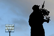 A TV cameraman in action during the Burger King Super Smash T20 cricket match between the Central Stags and the Northern Knights, McLean Park, Napier, Friday, January 25, 2019. Copyright photo: Kerry Marshall / www.photosport.nz