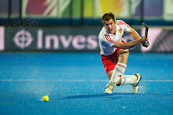 England's Henry Weir. England v Spain - Unibet EuroHockey Championships, Lee Valley Hockey & Tennis Centre, London, UK on 25 August 2015. Photo: Simon Parker