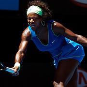 Serena Williams of USA in action against Victoria Azarenka at the Australian Tennis Open on January 26, 2009 in Melbourne, Australia. Photo Tim Clayton    .