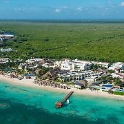 Aerial view of the Azul Beach hotel by Karisma. Riviera Maya, Mexico.