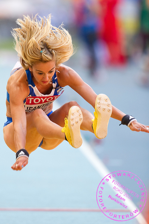 Sofia Yfantidou from Greece competes in women's long jump while heptathlon during the 14th IAAF World Athletics Championships at the Luzhniki stadium in Moscow on August 13, 2013.<br /> <br /> Russian Federation, Moscow, August 13, 2013<br /> <br /> Picture also available in RAW (NEF) or TIFF format on special request.<br /> <br /> For editorial use only. Any commercial or promotional use requires permission.<br /> <br /> Mandatory credit:<br /> Photo by © Adam Nurkiewicz / Mediasport