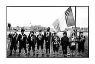 jonge leden van de zeescouts van Linkeroever tijdens de viering van hun 100 jarig bestaan.