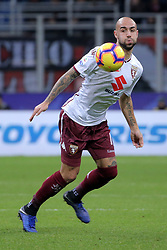 December 9, 2018 - Milan, Milan, Italy - Simone Zaza #11 of Torino FC in action during the serie A match between AC Milan and Torino FC at Stadio Giuseppe Meazza on December 09, 2018 in Milan, Italy. (Credit Image: © Giuseppe Cottini/NurPhoto via ZUMA Press)