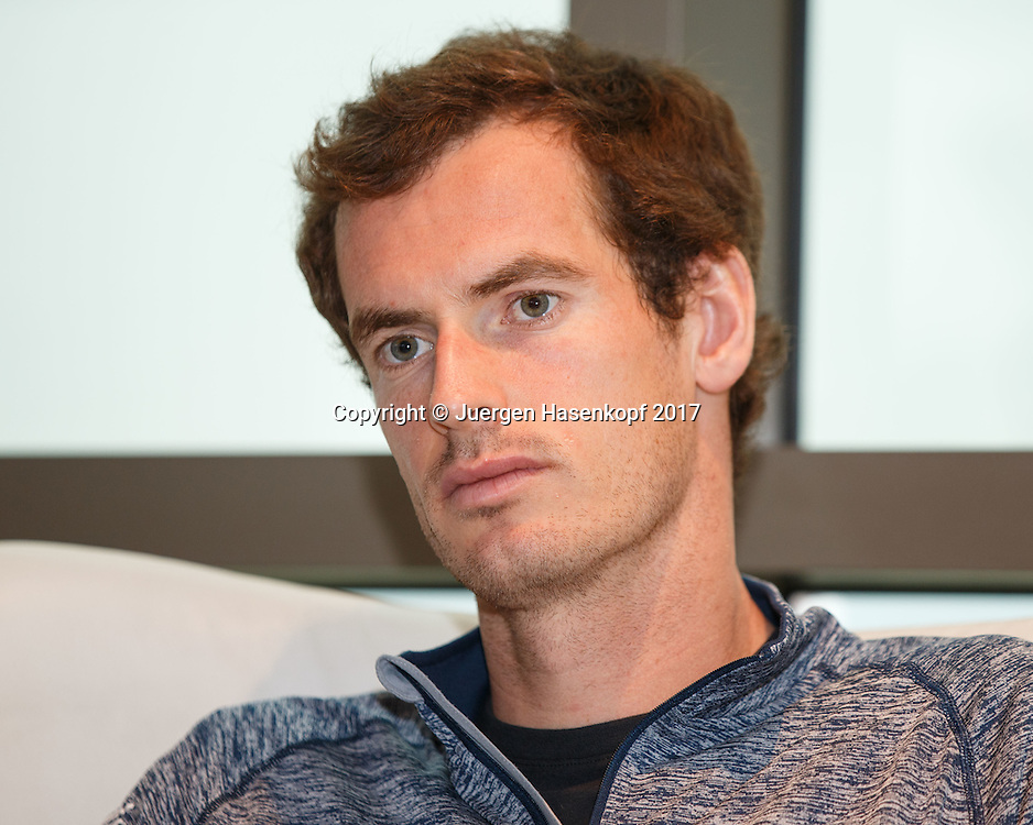 ANDY MURRAY (GBR), Pressekonferenz<br /> <br /> Tennis - Dubai Tennis Championships 2017 - ATP -  Dubai Duty Free Tennis Stadium - Dubai  -  - United Arab Emirates  - 26 February 2017.