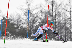 SCHWARTZ Melanie LW2 USA competing in the ParaSkiAlpin, Para Alpine Skiing, Slalom at the PyeongChang2018 Winter Paralympic Games, South Korea.