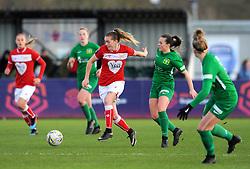 Ellie Mason of Yeovil Town Ladies competes with Lucy Graham of Bristol City- Mandatory by-line: Nizaam Jones/JMP - 27/01/2019 - FOOTBALL - Stoke Gifford Stadium - Bristol, England - Bristol City Women v Yeovil Town Ladies- FA Women's Super League 1