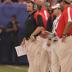 2 January 2009: Utah head coach Kyle Whittingham on the sideline during the 75th annual All State Sugar Bowl  between the Utah Utes and the Alabama Crimson Tide at the Louisiana Superdome in New Orleans, LA.