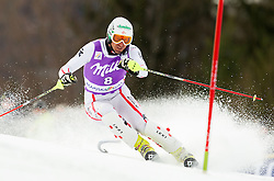 PRANGER Manfredof Austria competes during 1st Run of Men's Slalom - Pokal Vitranc 2012 of FIS Alpine Ski World Cup 2011/2012, on March 11, 2012 in Vitranc, Kranjska Gora, Slovenia.  (Photo By Vid Ponikvar / Sportida.com)