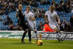 Adryan of Leeds United is challenged by Yoni Buyens of Charlton Athletic - Photo mandatory by-line: Rogan Thomson/JMP - 07966 386802 - 04/11/2014 - SPORT - FOOTBALL - Leeds, England - Elland Road Stadium - Leeds United v Charlton Athletic - Sky Bet Championship.